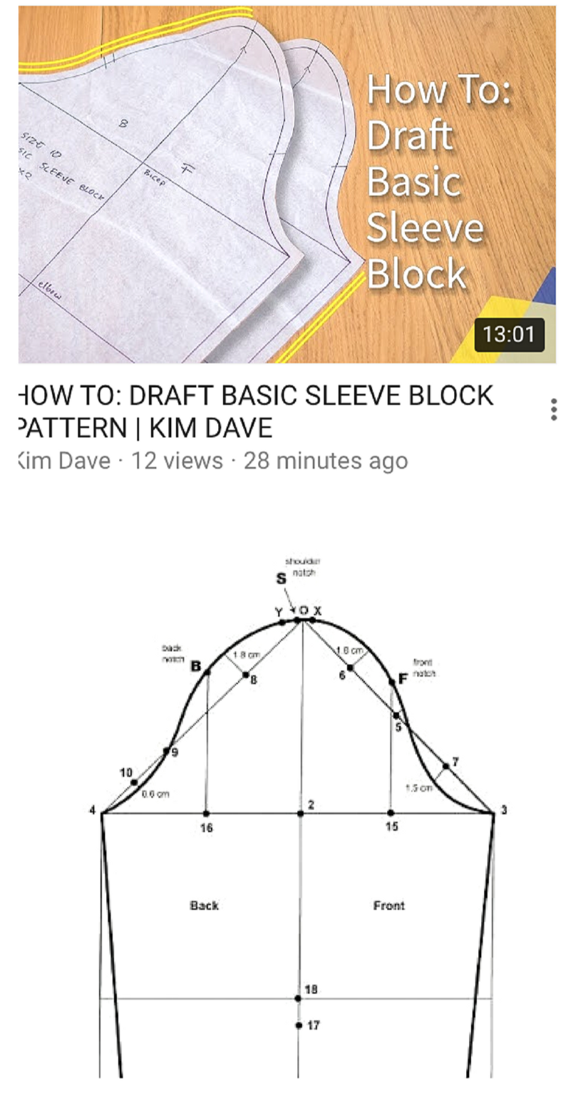 Easy Step By Tutorial On How To Draft Basic Sleeve Block Pattern