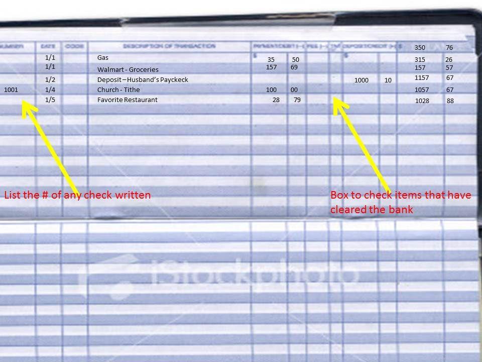 Balancing Your Checkbook A Key Part of Your Financial Plan Key - printable bank ledger