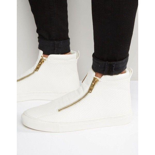 high top zip trainers