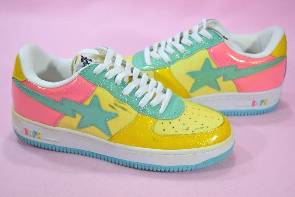 4ac119fee867 2009 Bapesta Cotton Candy Multi Color Patent Leather 9 Nigo Bape Bathing Ape