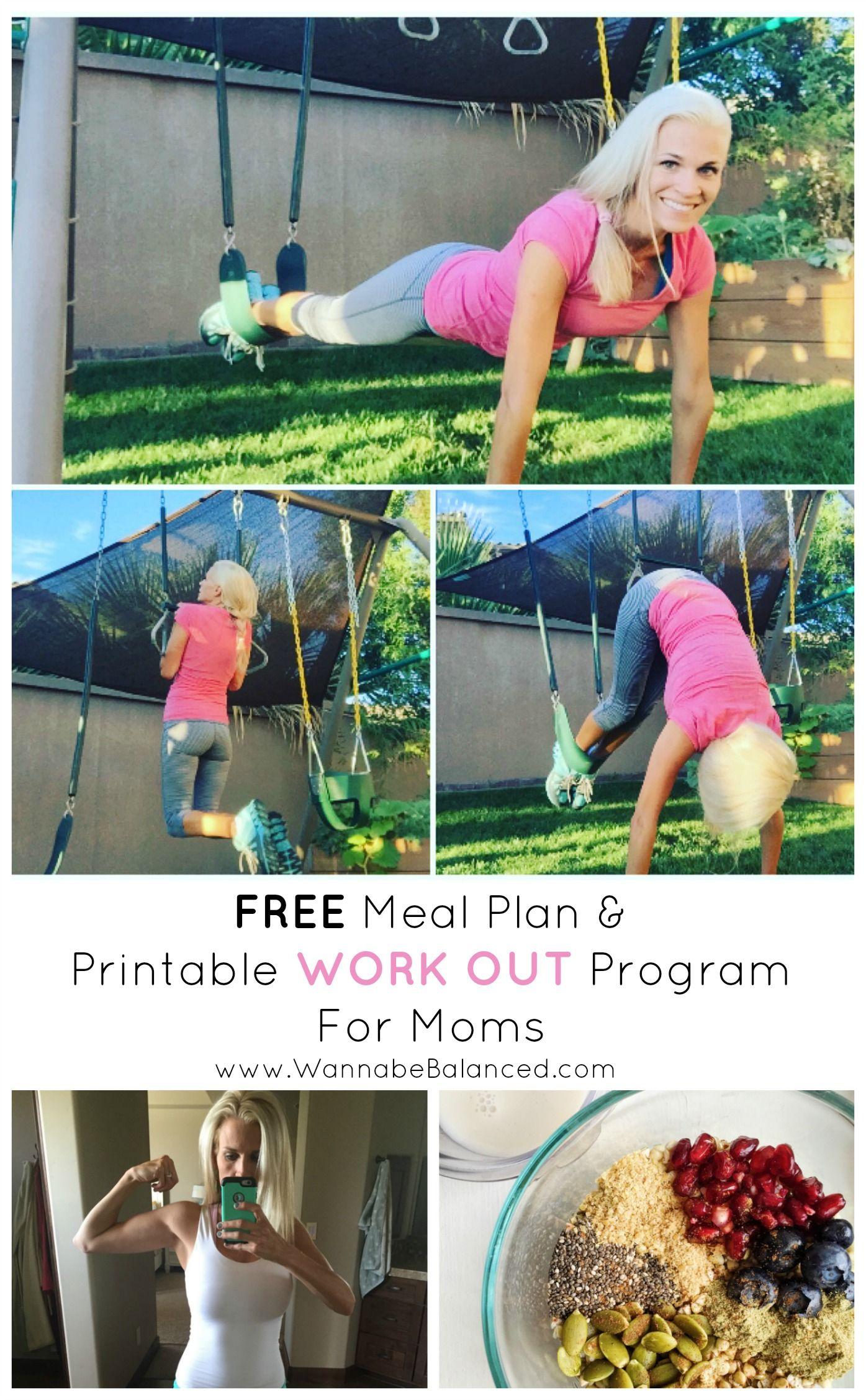 Free Meal Plan Amp Printable Exercise Plan