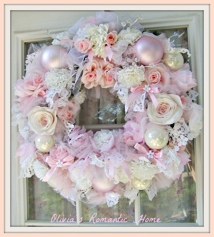 Treasury List Shabby Chic Rose Pink White Candy Princess Christmas ...