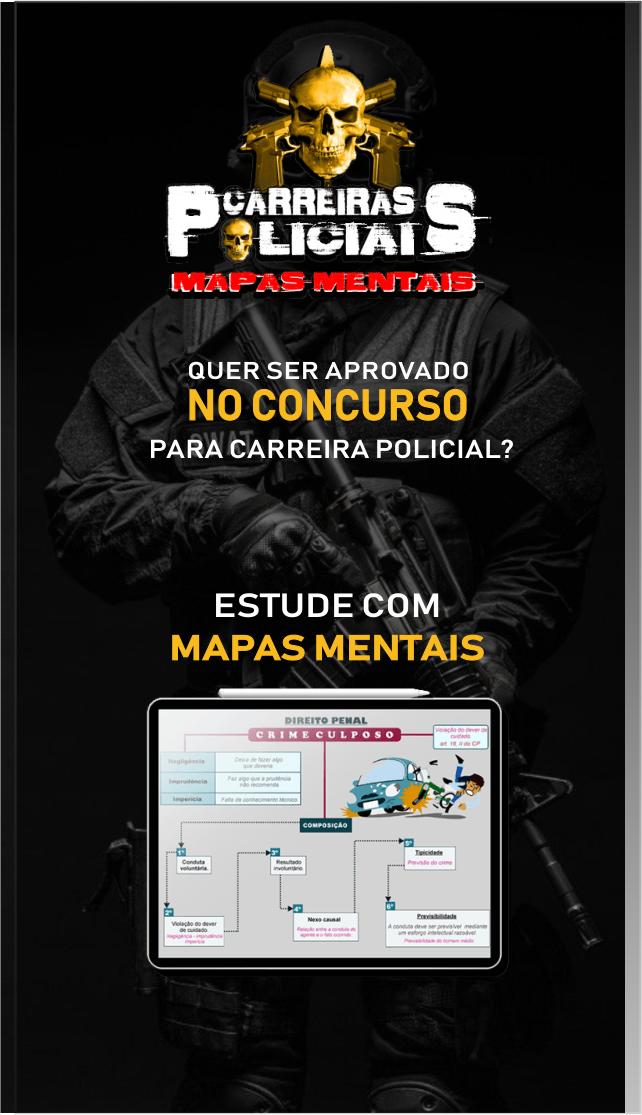 mapa mental carreira policial gratis