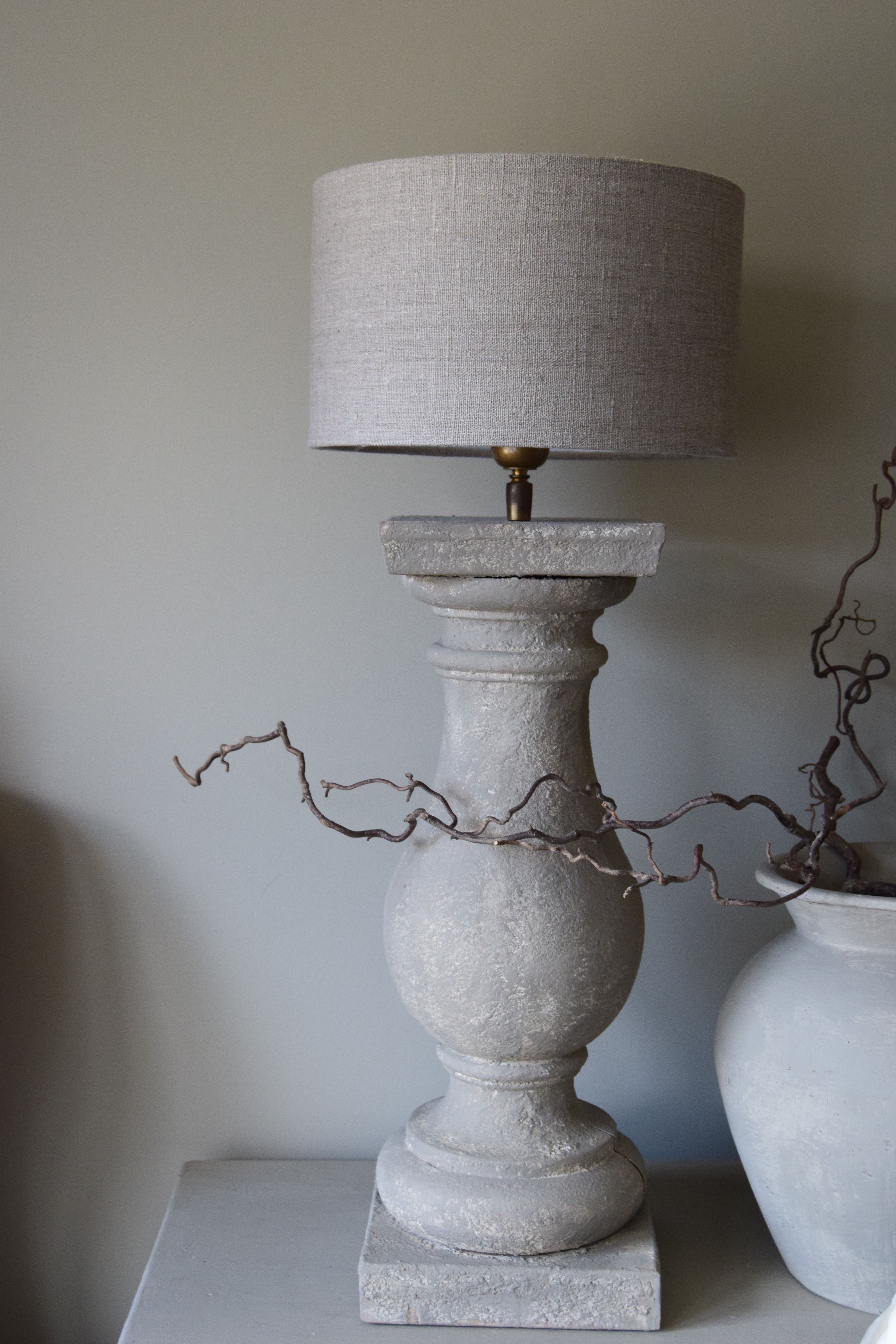 Houten Cilinder Houten Balusterlamp For The Love Of Chalk Paint Painted
