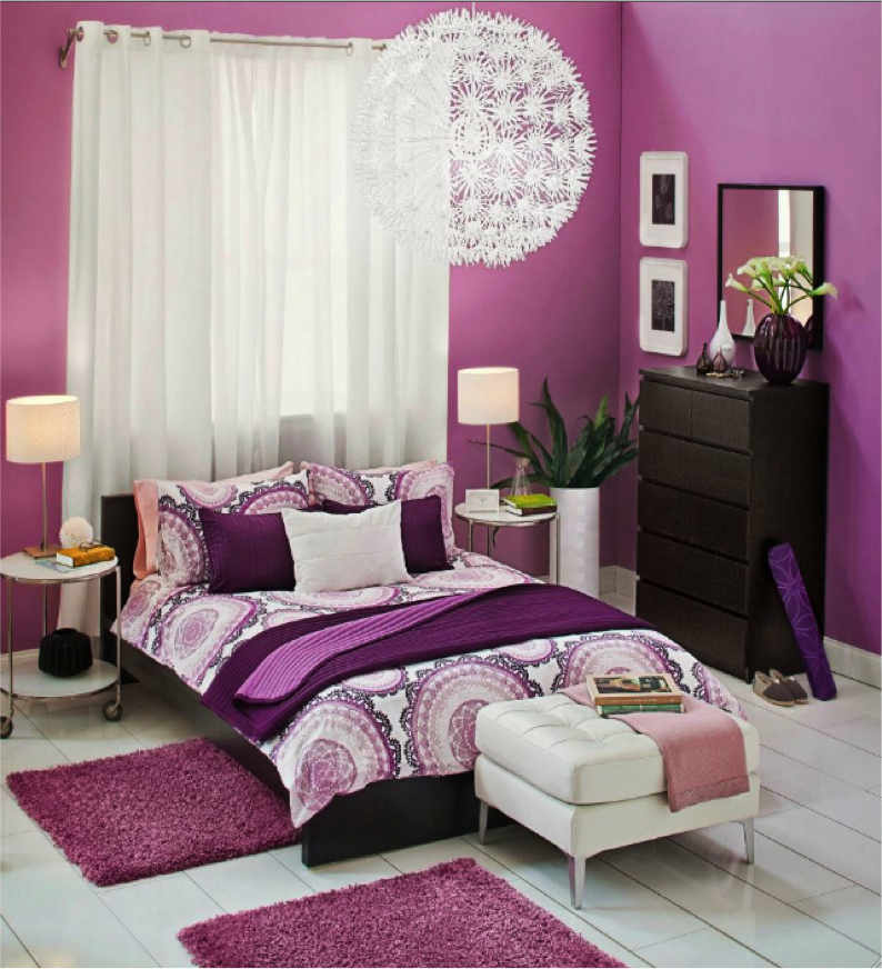 Love all the purples ikea is a great store bedrooms for Decoracion hogar juvenil