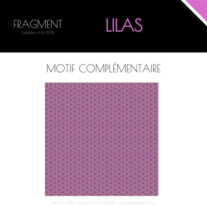 """Collection textile """"FRAGMENT"""" par Mariane Léger - Design Sensoriel  https://www.facebook.com/designsensoriel/  Thème Lila, imprimable sur toile, voilage, velours, twill, occultant et plus encore.  Tissus d'ameublement disponibles à partir de 1m sur www.marianeleger.com  Echelle du motif modifiable sur demande.  Pour toute demande : contact@marianeleger.com"""