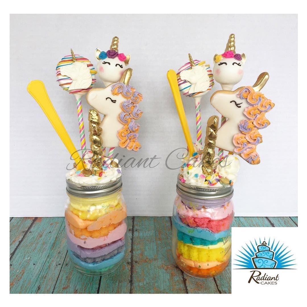 Unicorn Cake Jars with Unicorn Cookies, Oreos, Cake Pops ...