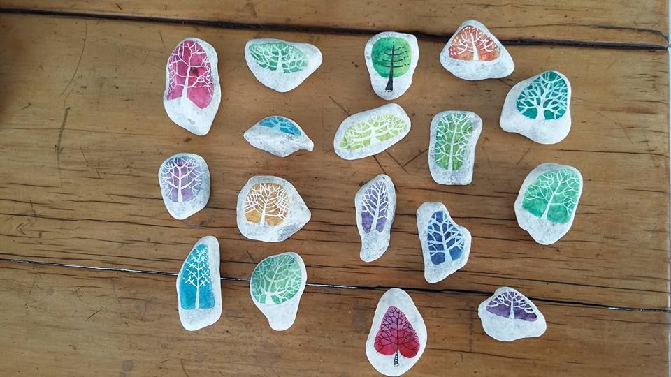 Painted rocks done by Cecile Walters