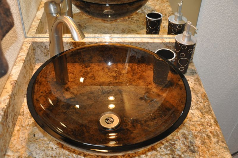 Bathroom Remodel With Vessel Sink, Granite Countertop And Moen Faucet In Colorado  Springs