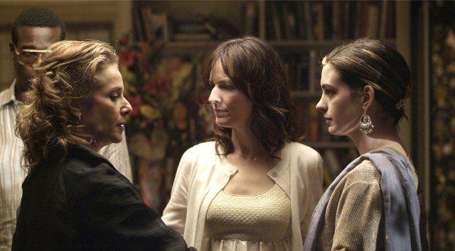 """Still of Debra Winger, Rosemarie DeWitt and Anne Hathaway in """"Rachel Getting Married"""" by Jonathan Demme, 2008."""
