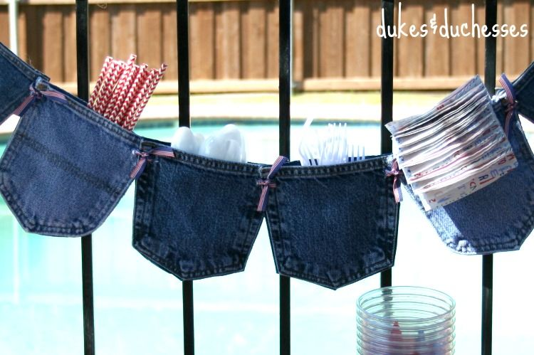 No-Sew Jeans Pocket Garland - Dukes and Duchesses