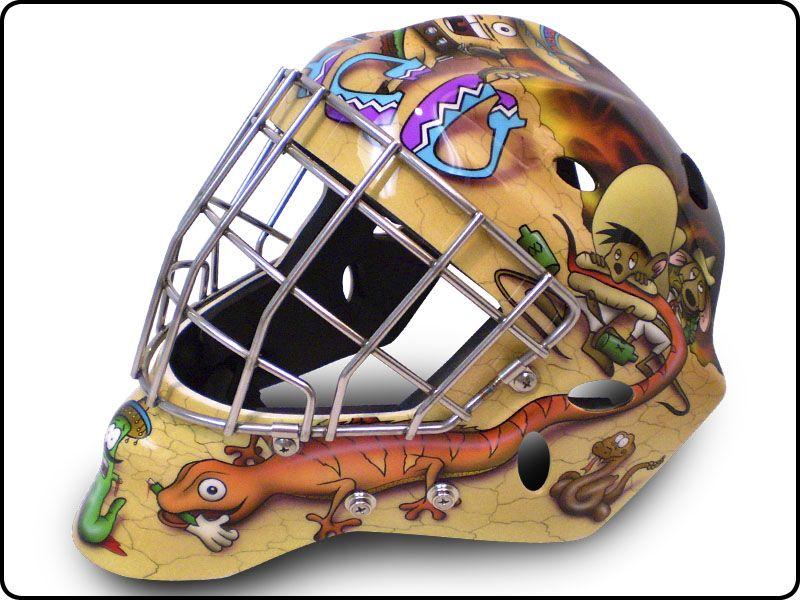 Mexican Cartoon Theme Goalie Mask Goalie Mask Goalie Hockey Goalie