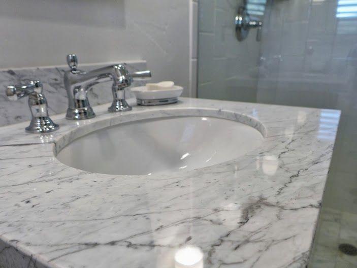 Bathroom Vanity Park City UT Carrara Marble countertop