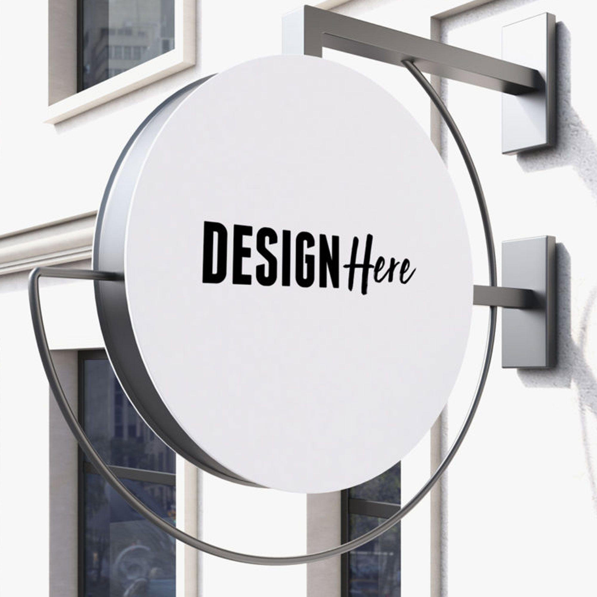 Signboard Mockup Design De Sinalização Placa De Loja Design Wood