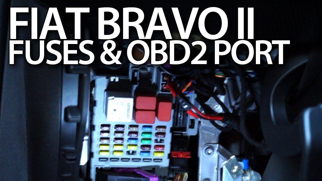 Fiat bravo ii obd2 port fuses relays location cars