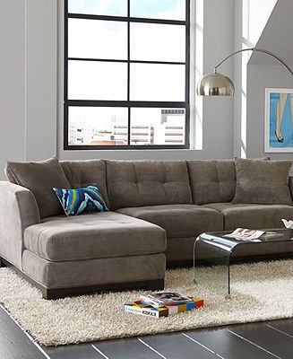 Elliot Fabric Sectional Living Room Furniture Collection - Sectional Sofas - furniture - Macyu0027s : sectional sofa macys - Sectionals, Sofas & Couches