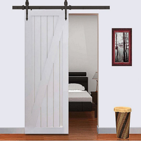12ft Winsoon Black Single Barn Door Hardware Sliding Rolling Closet Track Kit Set Arrow Design Wood Doors Interior Sliding Doors Interior Doors Interior