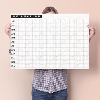 2019 Year Wall Planner Large A1 Office Home Work Laminated Calendar
