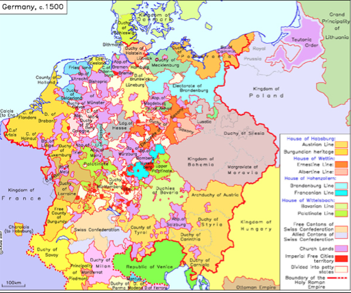 image result for map of reformation germany in english