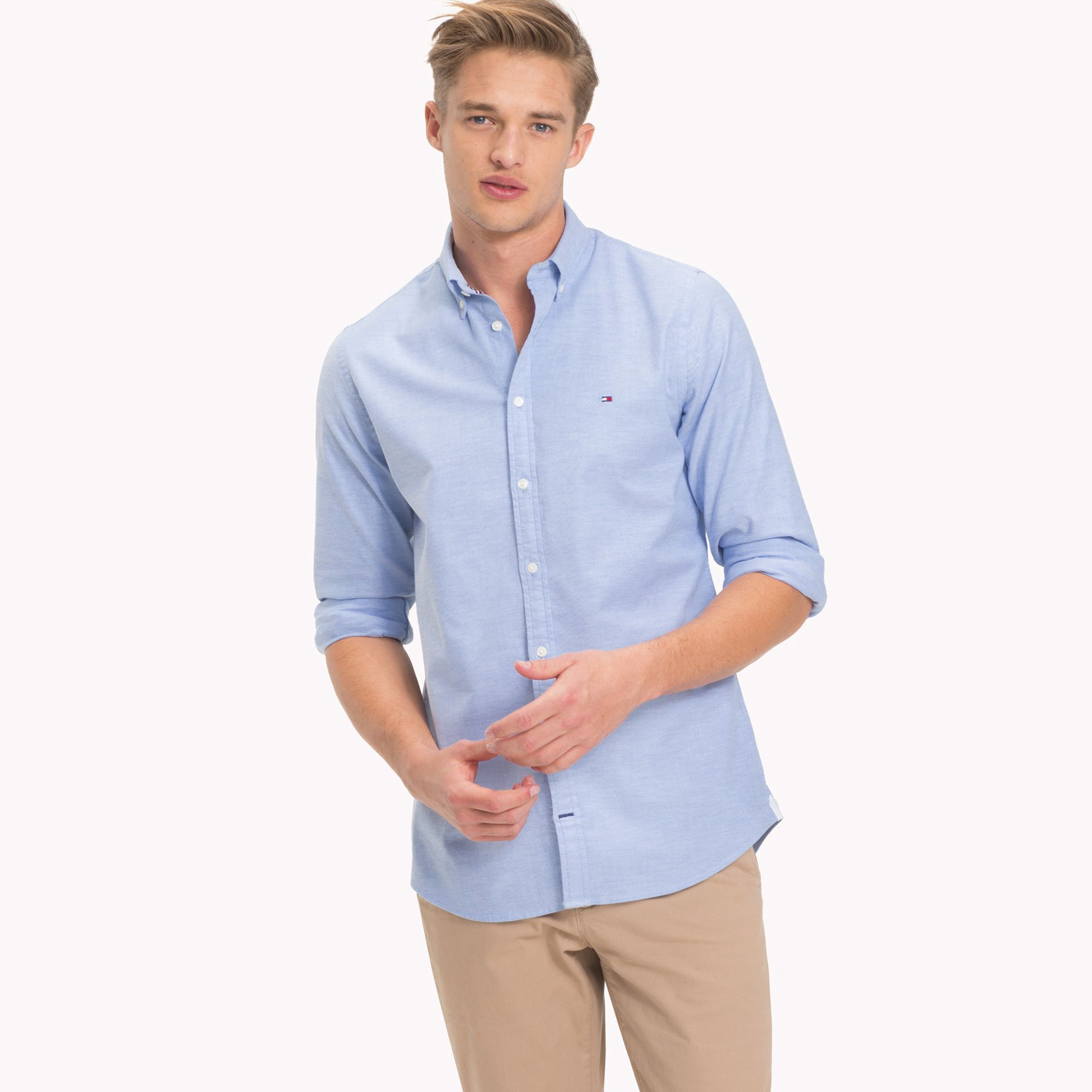 Tommy Hilfiger Slim Fit Shirt Blue Xl | Casual shirts for