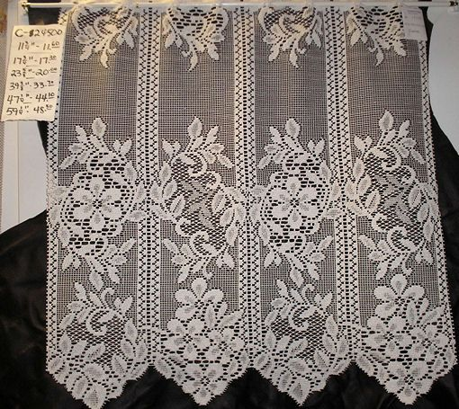 German Lace Curtains German Lace Cafe Curtain With