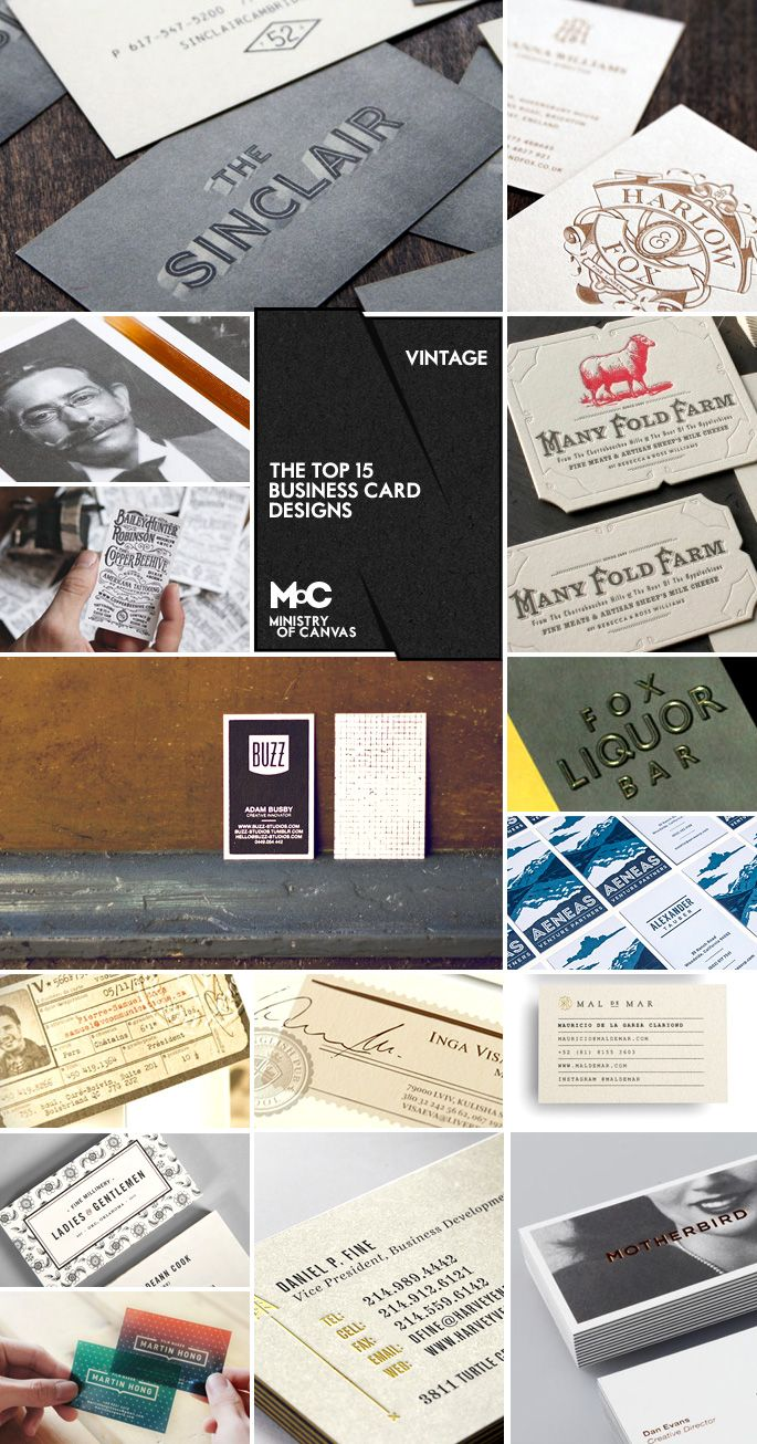 Ideas and Inspiration for Creating Vintage Business Cards ...