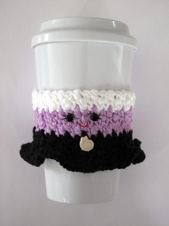 Ursula Coffee Cup Cozy de ganchillo | Crochet | Pinterest ...