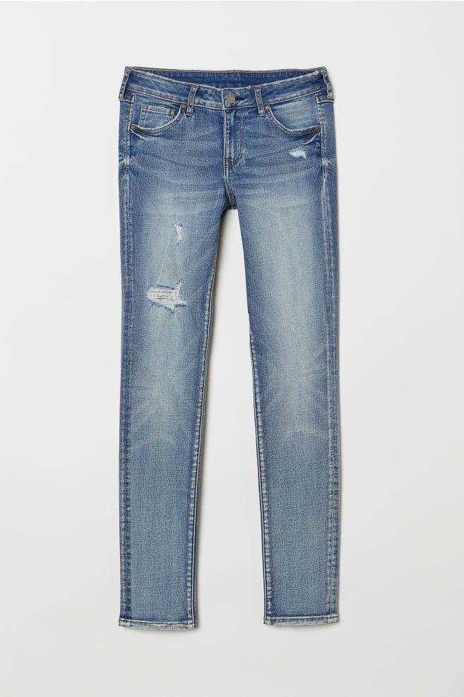 7a9bec355c8 Skinny Low Jeans - Light denim blue washed - Ladies