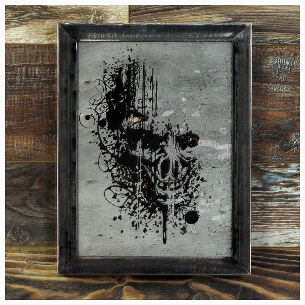 """Satisfaction...    a visceral piece that works really well with the Shou Sugi Ban technique to create an image that is perfect for the hauntingly beautiful charred wood...    Satisfactionis Made-To-Order and is available in a Silver or Gold finish and in two different sizes (12""""x16"""" or 18""""x24"""")    Satisfactionis madefrom poplerthat has been burnt completely blackand then painted, the image is revealedby ripping away the pigment, leaving the texture of the burnt wood underneath.…"""
