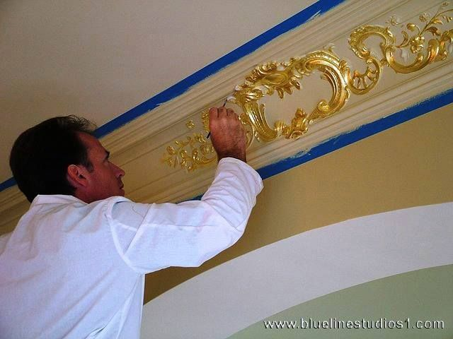 The New Concept Of Decorative Painting In Interior I Am Offering Myself For Undertaking Subcontract Fr Molding Ceiling Diy Crown Molding Ceiling Crown Molding
