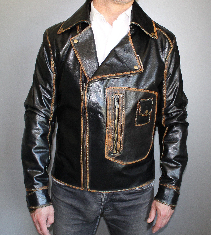 Asymmetrical Leather Jacket Oldschool Leather Jacket By Dd Bespoke Studio Custom Leather Jackets Asymmetrical Leather Jacket Men S Leather Jacket [ 3000 x 2684 Pixel ]