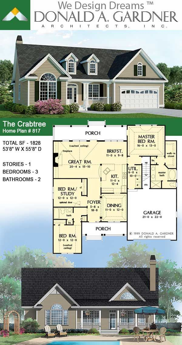 The Crabtree House Plan 817