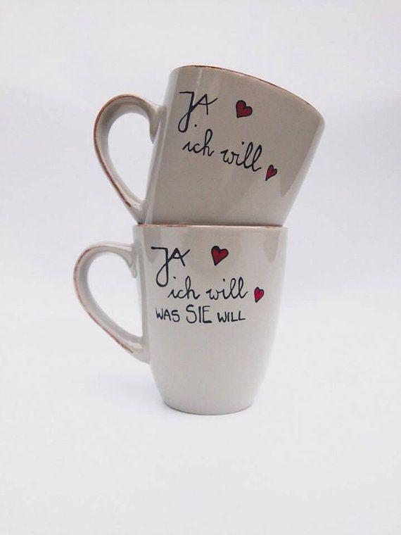 Ja Ich Will Hochzeit Hochzeitsgeschenk Tasse Handbemalt Unikat Handbemalte Tasse Hochzeitsgeschenk