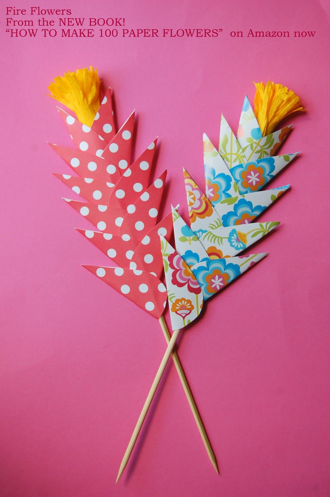 Easy Paper Flowers For Kids Diy Fire Flowers Paper Pinterest