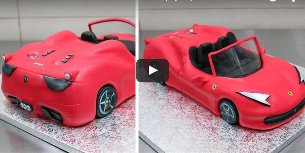 How To Make A Ferrari Car Cake Fondant Ferrari Car Cake Tutorial