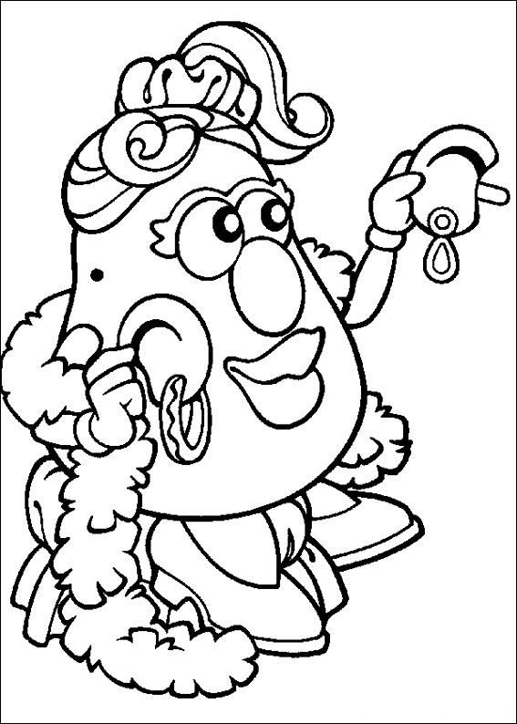 Coloring Page Mr Potato Head Mr Potato Head Toy Story Coloring