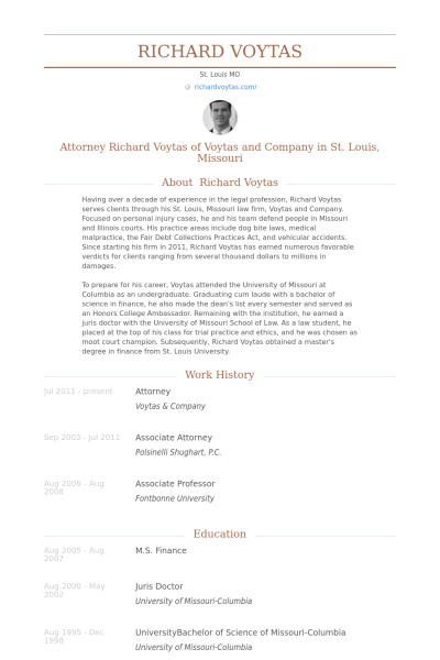 Attorney Resume Example  Resume    Resume Examples And