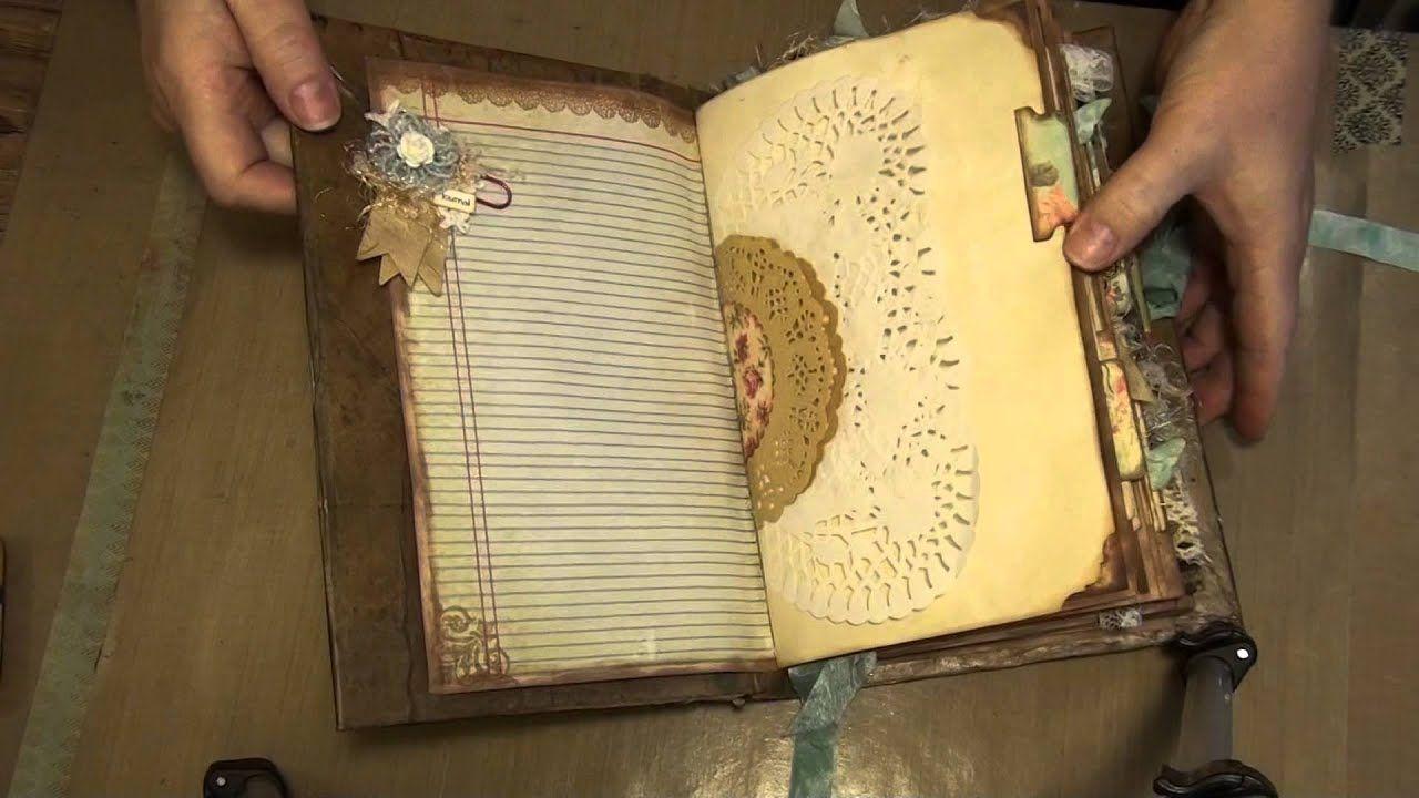 Junk Journal With Ephemera S Vintage Garden Digital Downloads Youtube Vintage Journal Junk Journal Handmade Books