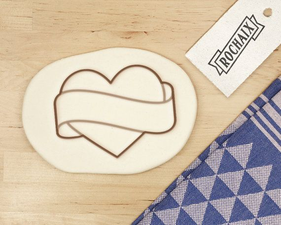 latest discount hot product classic Banner Heart Cookie Cutter Engagement by ...