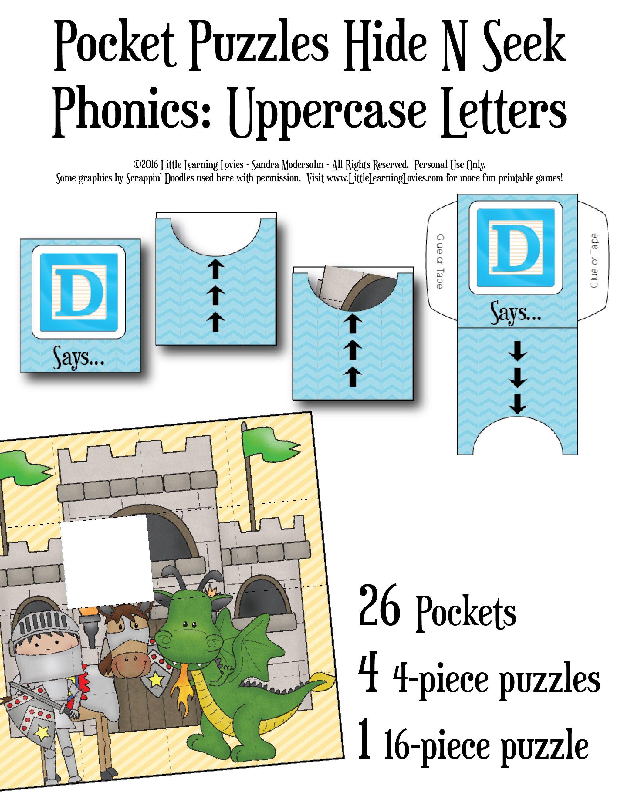 PocketHideAndSeekGames-Phonics-Uppercase Letters :  A fun Alphabet Game for PreK and Kindergarten