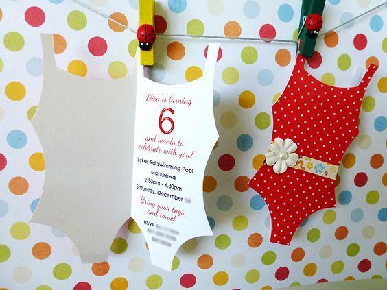 Bildergebnis Für Kindergeburtstag Einladung Pool Basteln