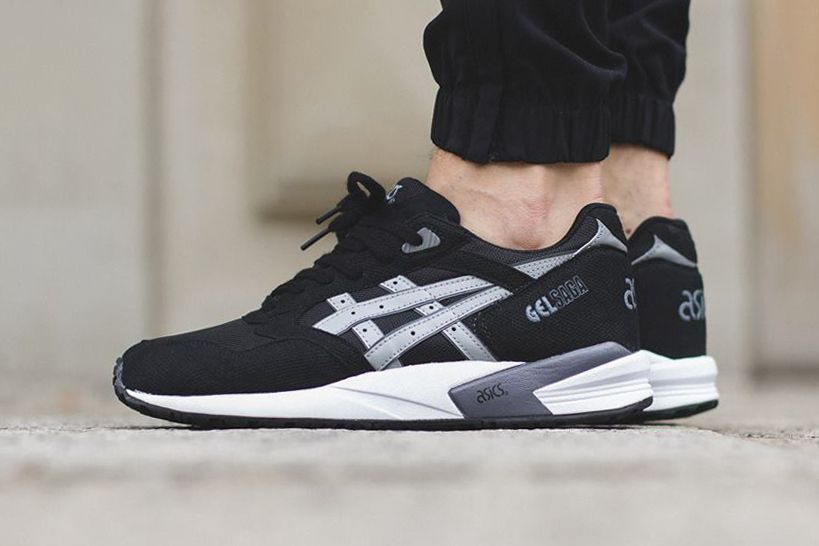As Simple As It Gets, Take A Look At The Asics Gel Saga Utilizing The Black  And Grey Look | Asics, Shoe game and Air max