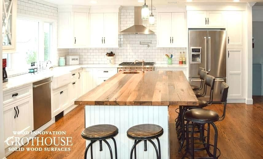 6 Foot Countertop With Amazing Wood Kitchen Island Top Best Of