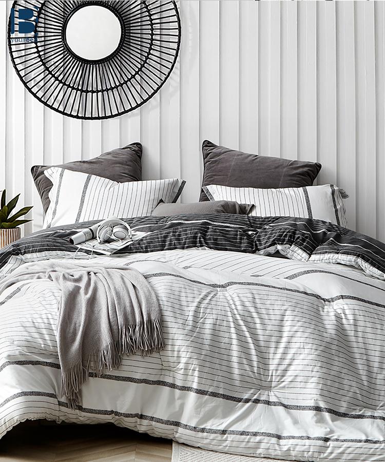 True Oversized King Comforter Designer Kappel Black And White Stripes Extra Large King Bedding Set Black White And Grey Bedroom White Comforter Comforter Sets