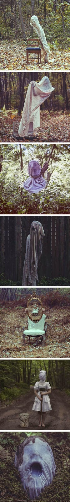 50 Creepy DIY Halloween Party Ideas Masking, Makeup and Halloween - halloween ghost decor
