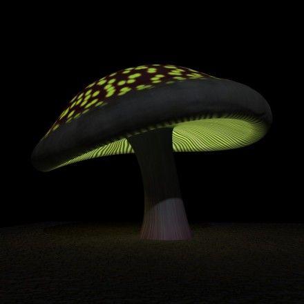 Fantasy Glowing Magic Mushroom | Blend Swap