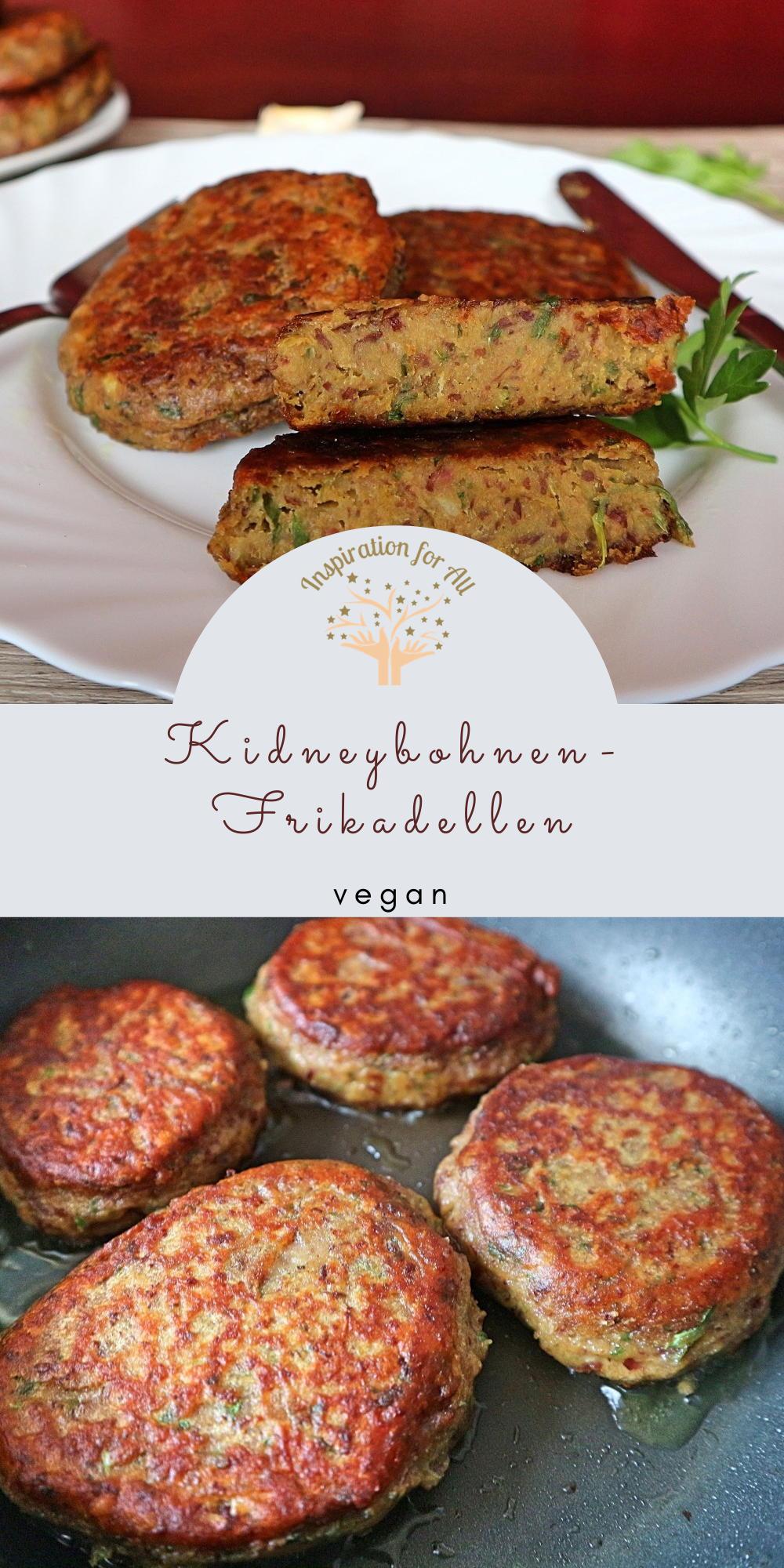 Kidneybohnen Frikadellen – veganes Rezept mit Kartoffeln