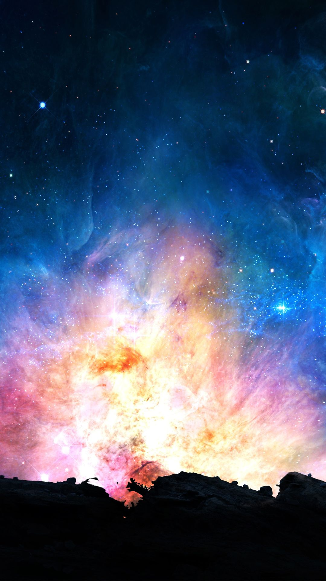colorful nebula iphone wallpaper - photo #12