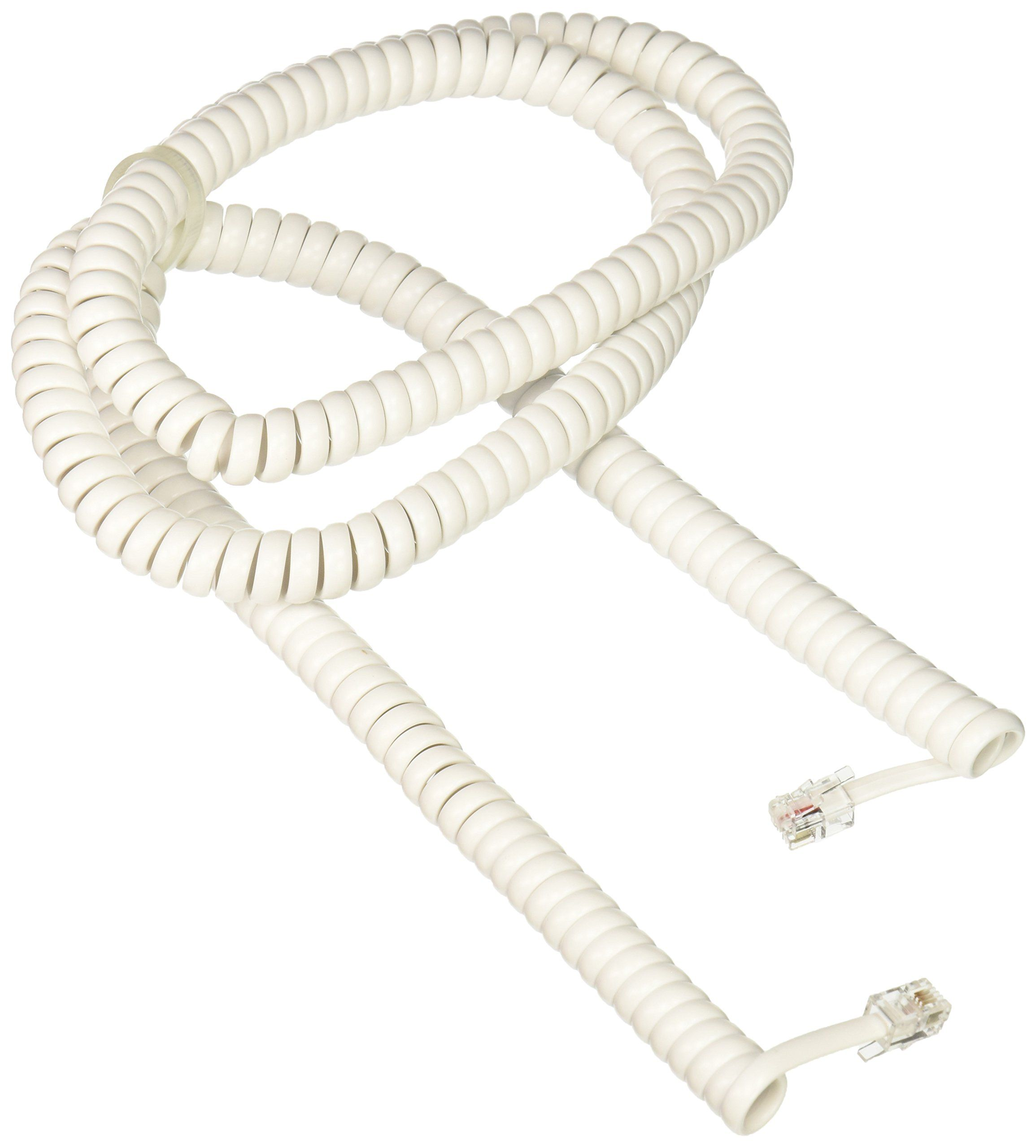 Rca 25 Feet Handset Coil Cord White Tp282w Handset Wholesale Hair Accessories Phone Cables