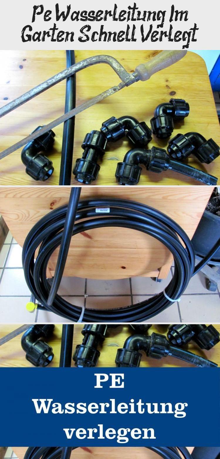 Pe Wasserleitungen Haben Viele Vorteile Eine Pe Wasserleitung Zu Verlegen Ist Einfach Wenn Man Etwas Gedu Wasserleitung Gartenschlauch Wasserleitung Verlegen